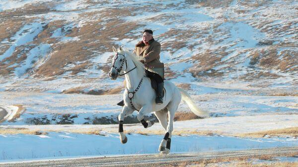 Лидер КНДР Ким Чен Ын поднялся на священную гору Пэктусан