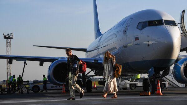 Пассажиры рейса авиакомпании Победа