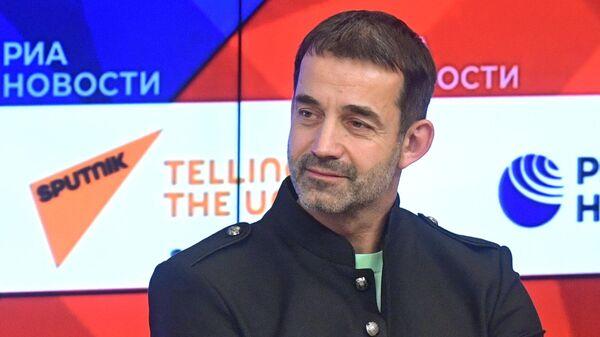 Актер Дмитрий Певцов в Международном мультимедийном пресс-центре МИА Россия сегодня
