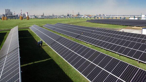 Солнечные панели на Омском НПЗ