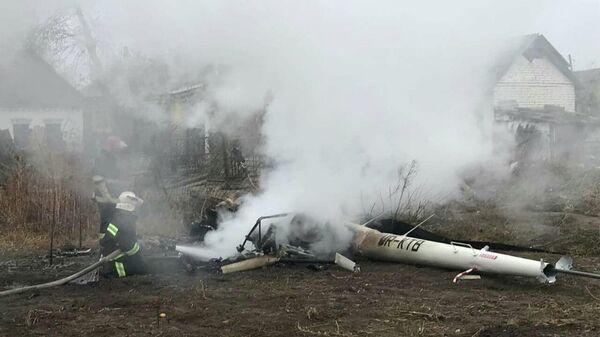 Вертолет разбился в Полтавской области, Украины