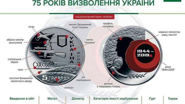 Юбилейная монета, посвященная 75-летию освобождения Украины от немецко-фашистских захватчиков