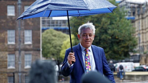 Спикер Палаты общин Великобритании Джон Беркоу в Лондоне