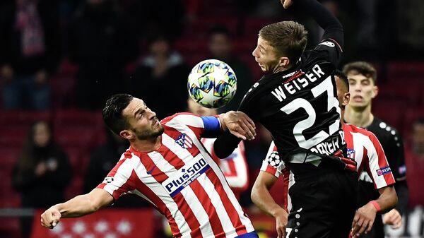 Атлетико - Байер в матче Лиги чемпионов УЕФА