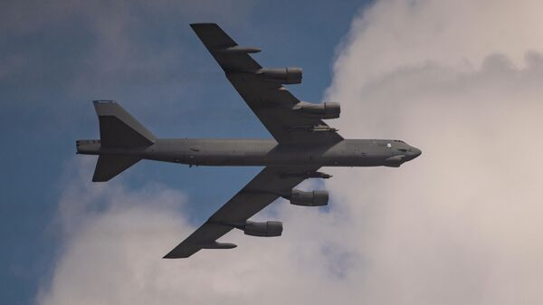 Стратегический бомбардировщик B-52H Stratofortress ВВС США