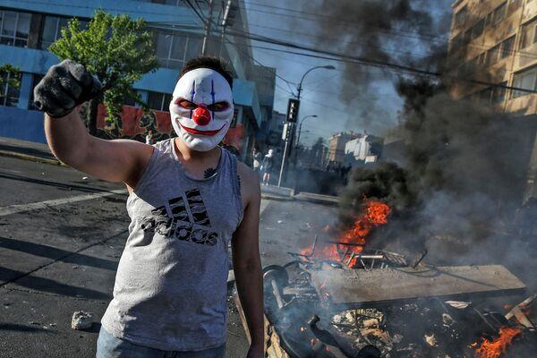 Протесты в Сантьяго, Чили
