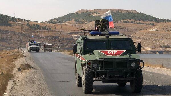 Бронеавтомобили военной полиции РФ в Сирии