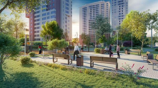 Проект планировки квартала Ломонсовского района Москвы