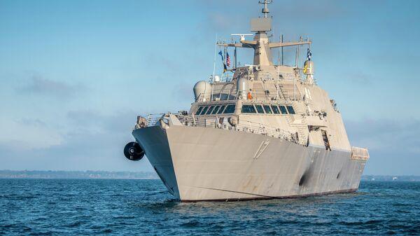 Боевой корабль прибрежной зоны USS Indianapolis