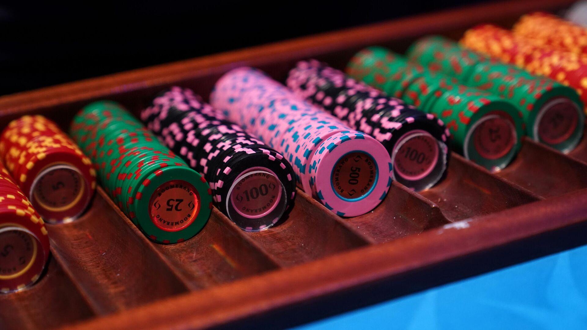 Фишки на игровом столе в казино - РИА Новости, 1920, 21.05.2021