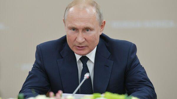 Президент РФ В. Путин принял участие в работе форума Россия - Африка