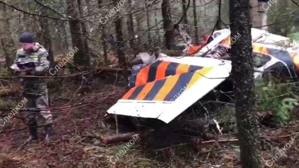 На месте крушения легкомоторного самолета Сеssna 172 в Пермском крае