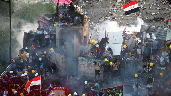 Акция протеста в Багдаде