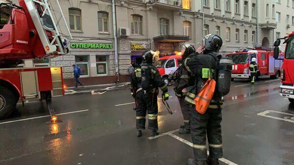 Пожар в жилом доме на Большой Сухаревской площади. 1 ноября 2019