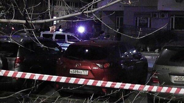 Место убийства руководителя центра Э МВД РФ по Ингушетии Ибрагима Эльджаркиева