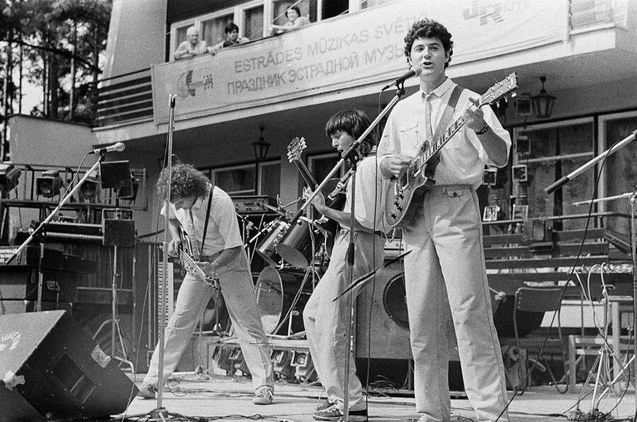 Концерт бит-квартета Секрет в Юрмале. 1987 год