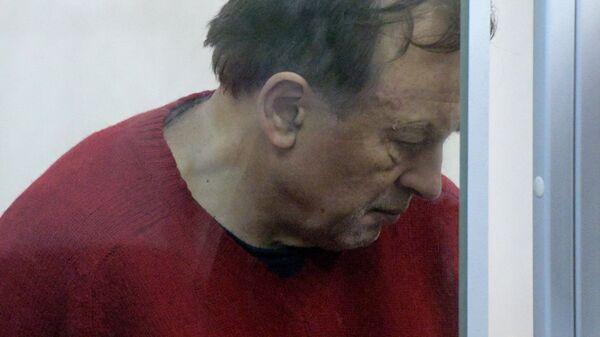 Олег Соколов, подозреваемый в убийстве аспирантки, на заседании Октябрьского районного суда Санкт-Петербурга