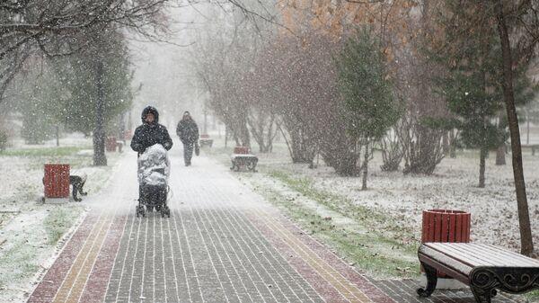 Посетители одного из парков города Томска