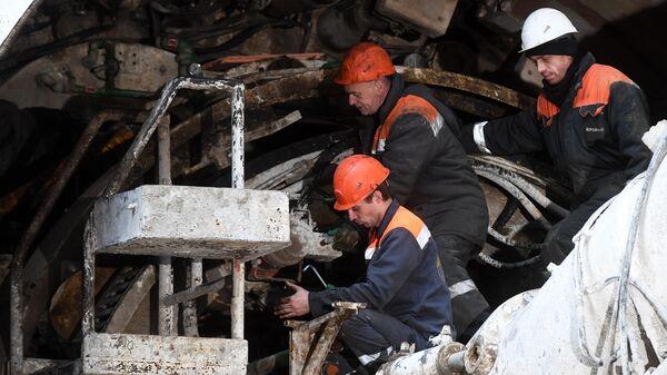 Строительство на Большой кольцевой линии Московского метрополитена