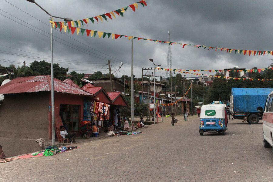 Центральная улица Лалибелы. Эфиопия