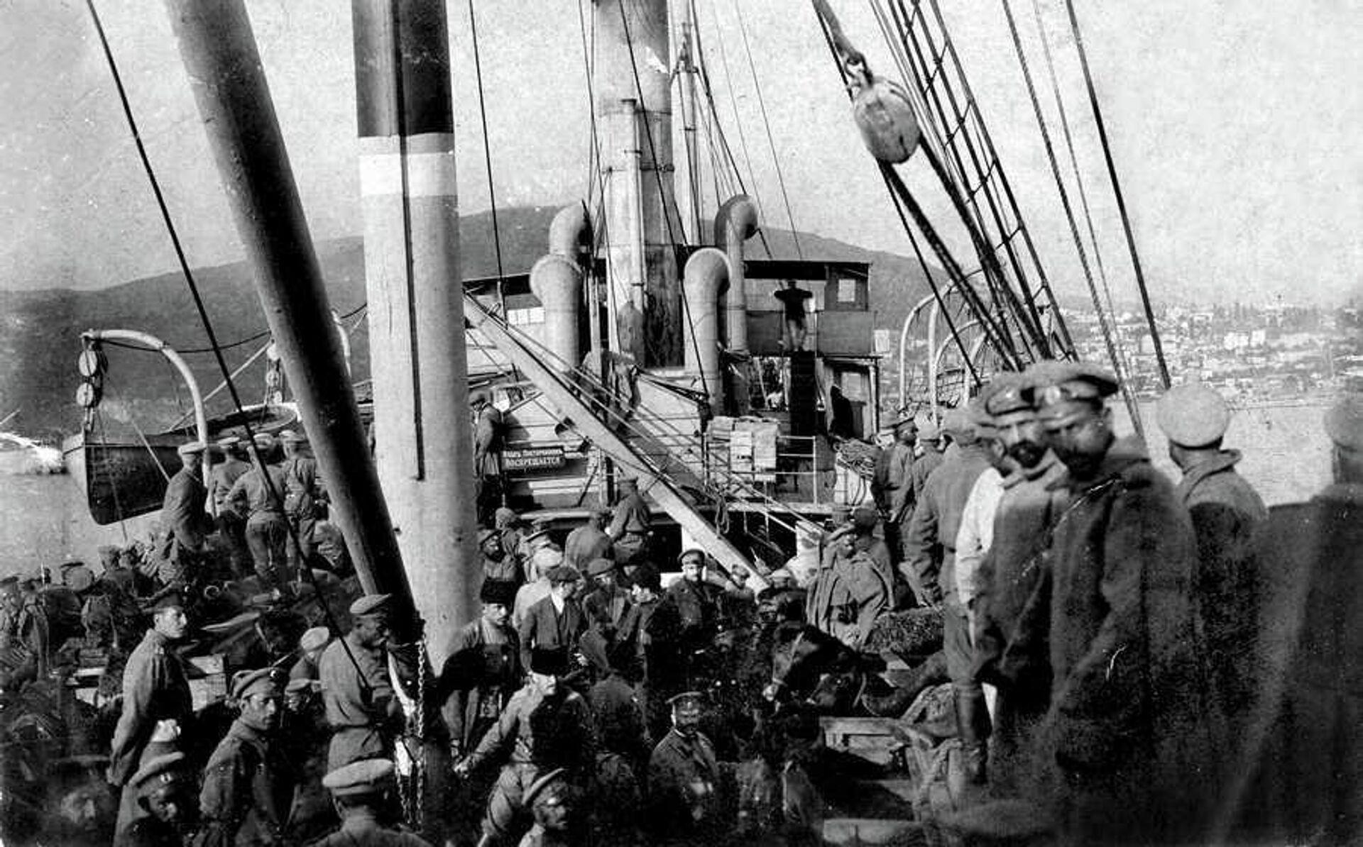 Крымская эвакуация, 1920 год - РИА Новости, 1920, 12.11.2020