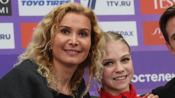 Этери Тутберидзе, Александра Трусова и Даниил Глейхенгауз