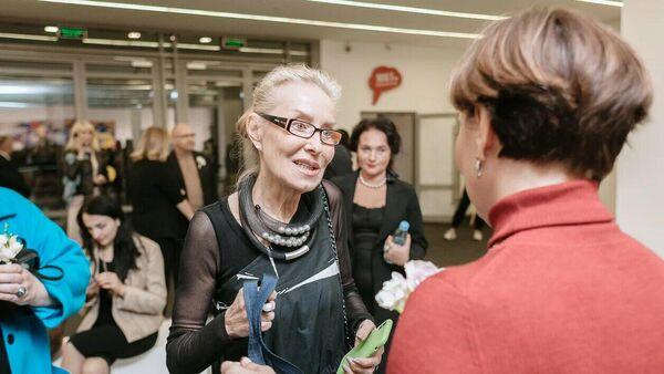 Директор Мультимедиа Арт Музея Ольга Свиблова на открытии выставки