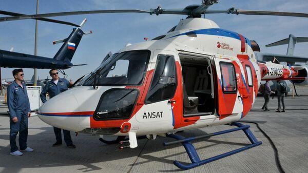 Вертолет Ансат на международном авиасалоне Dubai Airshow 2019 в Дубае
