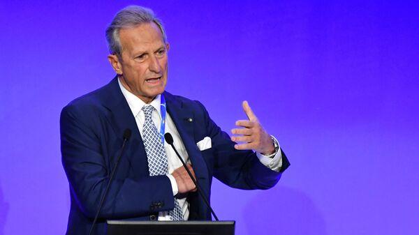Президент итальянской Серии А Гаэтано Миччике