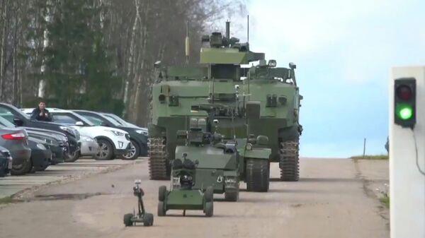 Робототехнический комплекс Кунгас. Стоп-кадр видео ТРК ВС РФ Звезда
