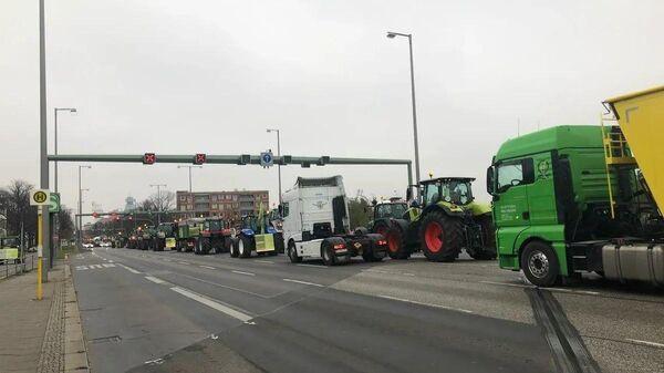 Акция протеста немецких фермеров в Берлине