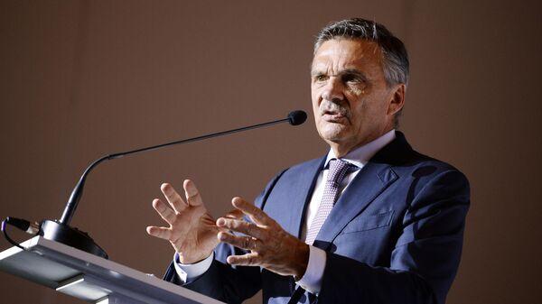 Президент Международной Федерации хоккея (ИИХФ) Рене Фазель