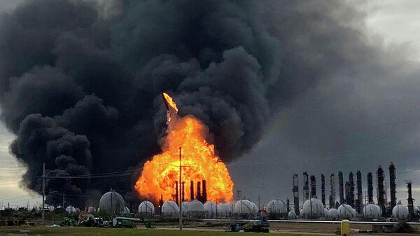 Взрыв на нефтехимическом заводе TPC Group в штате Техас