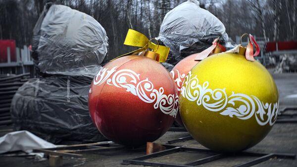 Уличное новогоднее украшение для новогоднего оформления Москвы
