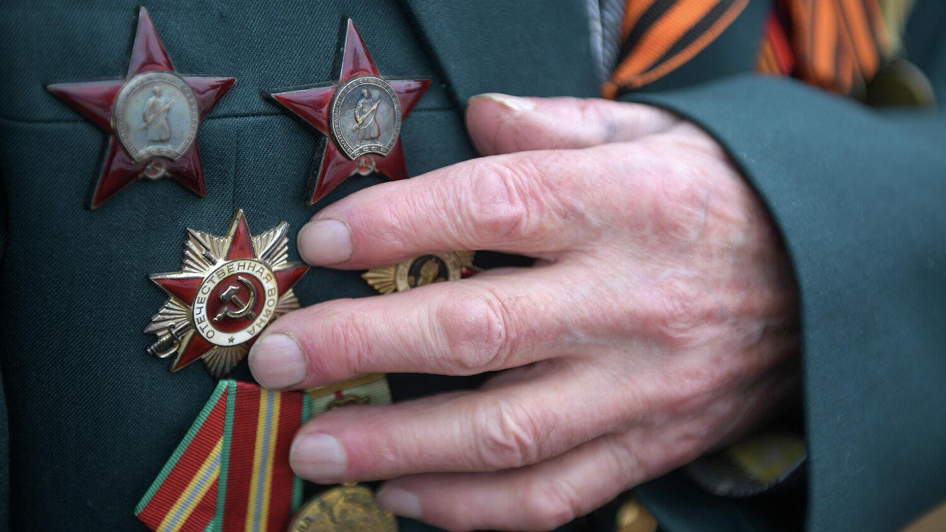 Боевые награды на груди ветерана Великой Отечественной войны - РИА Новости, 1920, 07.05.2021