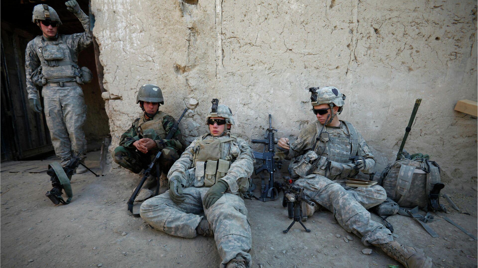Военнослужащие США и Афганистана в провинции Кандагар в Афганистане - РИА Новости, 1920, 24.03.2021