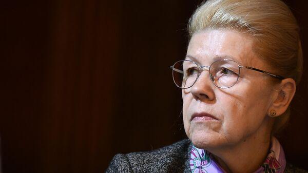 Заместитель председателя комитета Совета Федерации по конституционному законодательству Елена Мизулина на пленарном заседании Совета судей