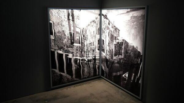 Работа фотографа Арсена Ревазова на выставке Невидимый свет в Третьяковской галерее
