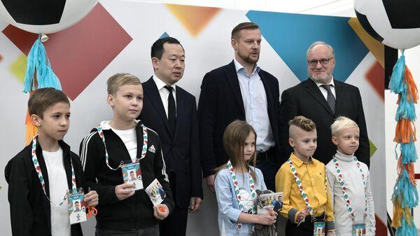 Открытие центра выдачи паспортов болельщика ЧЕ-2020 в Санкт-Петербурге