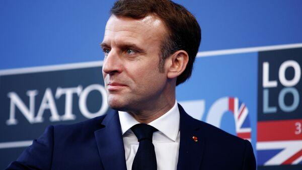 Президент Франции Эммануэль Макрон на саммите НАТО в Лондоне