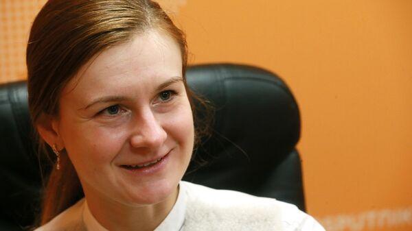 Мария Бутина в студии радио Sputnik