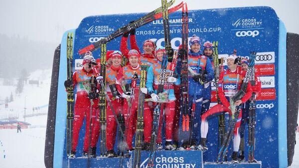 Российские спортсмены на этапе Кубка мира в Лиллехаммере. 8 декабря 2019