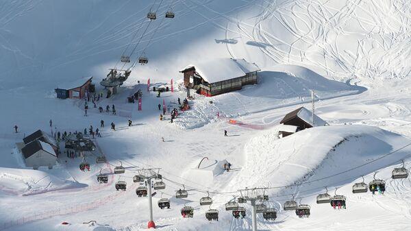 Открытие сезона на горном курорте Горки Город на территории Красной Поляны