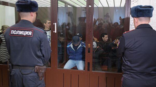 Обвиняемые по делу о теракте в метро Санкт-Петербурга на заседании первого Западного окружного военного суда