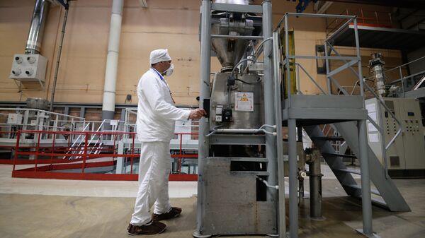 Участок изготовления топливных таблеток диоксида урана