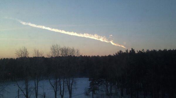 След падения предположительно космического объекта в районе города Сатки Челябинской области