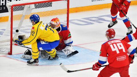 Матч Кубка Первого канала между сборными Швеции и России.