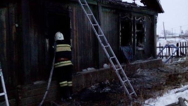 Пожар с жертвами в Алтайском крае