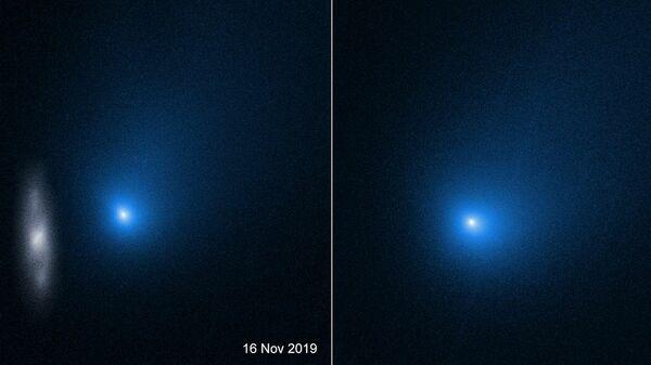 Снимки кометы 2I/Borisov, сделанные космическим телескопом Хаббл