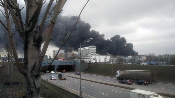 LIVE: Пожар на Варшавском шоссе в Москве